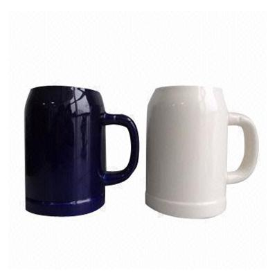 halba ceramica alb si negru